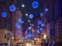 Световые шары на улице