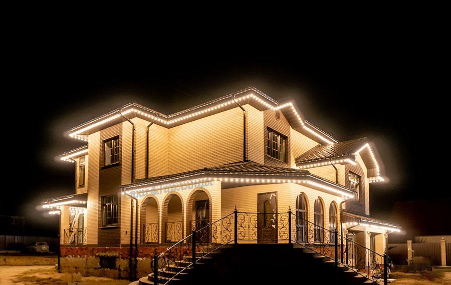 световое оформление дома - белт-лайт