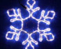 Светодиодная снежинка из Дюралайта