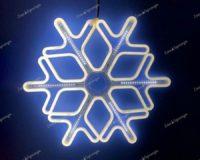 Снежинка из гибкого неона с эффектом Падающая капля