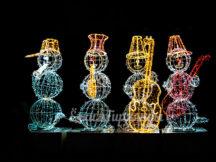 световые снеговики музыканты
